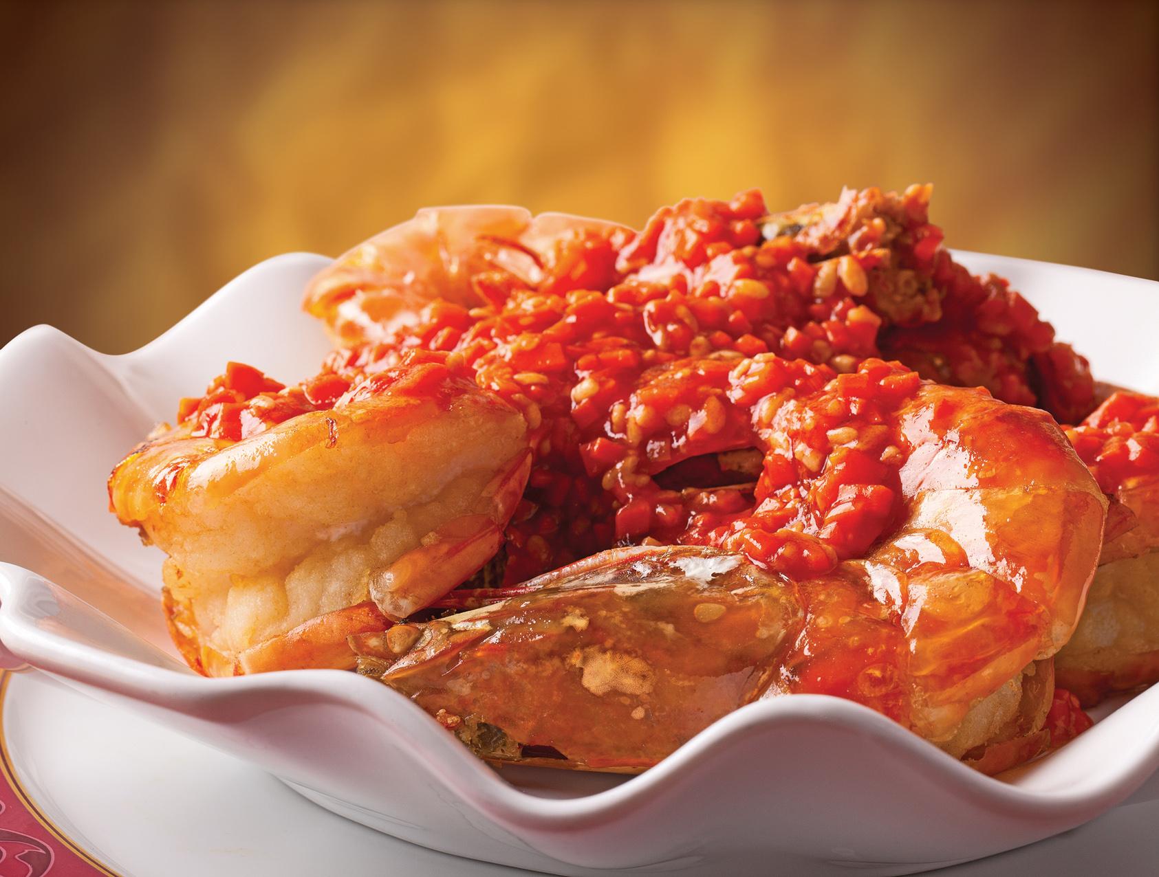 梓園上海菜館「乾燒明蝦」