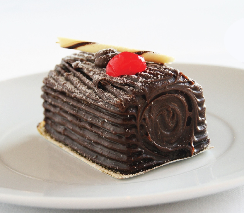 Dark Chocolate Christmas Log Cake