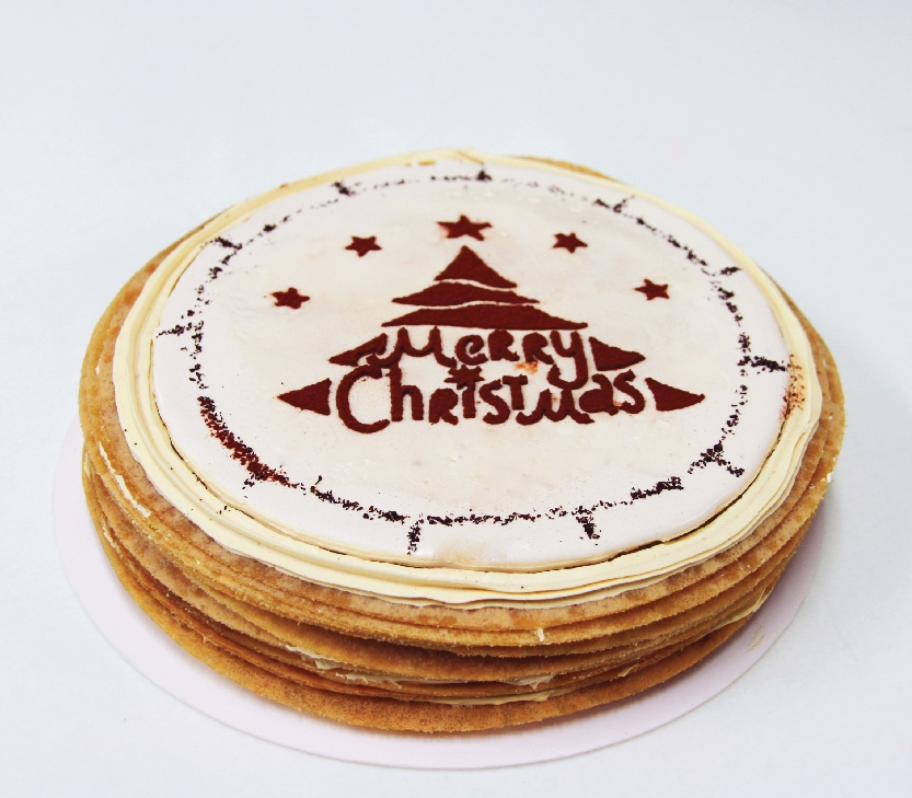 Christmas Whole Cake –  Earl Grey Mille Crepe