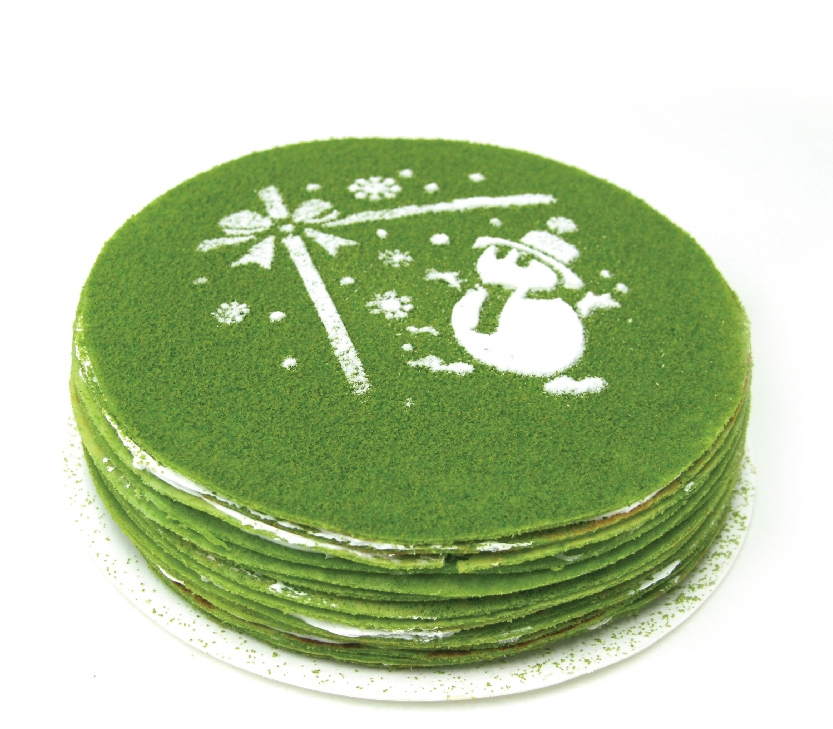 Christmas Whole Cake –  Green Tea Mille Crepe
